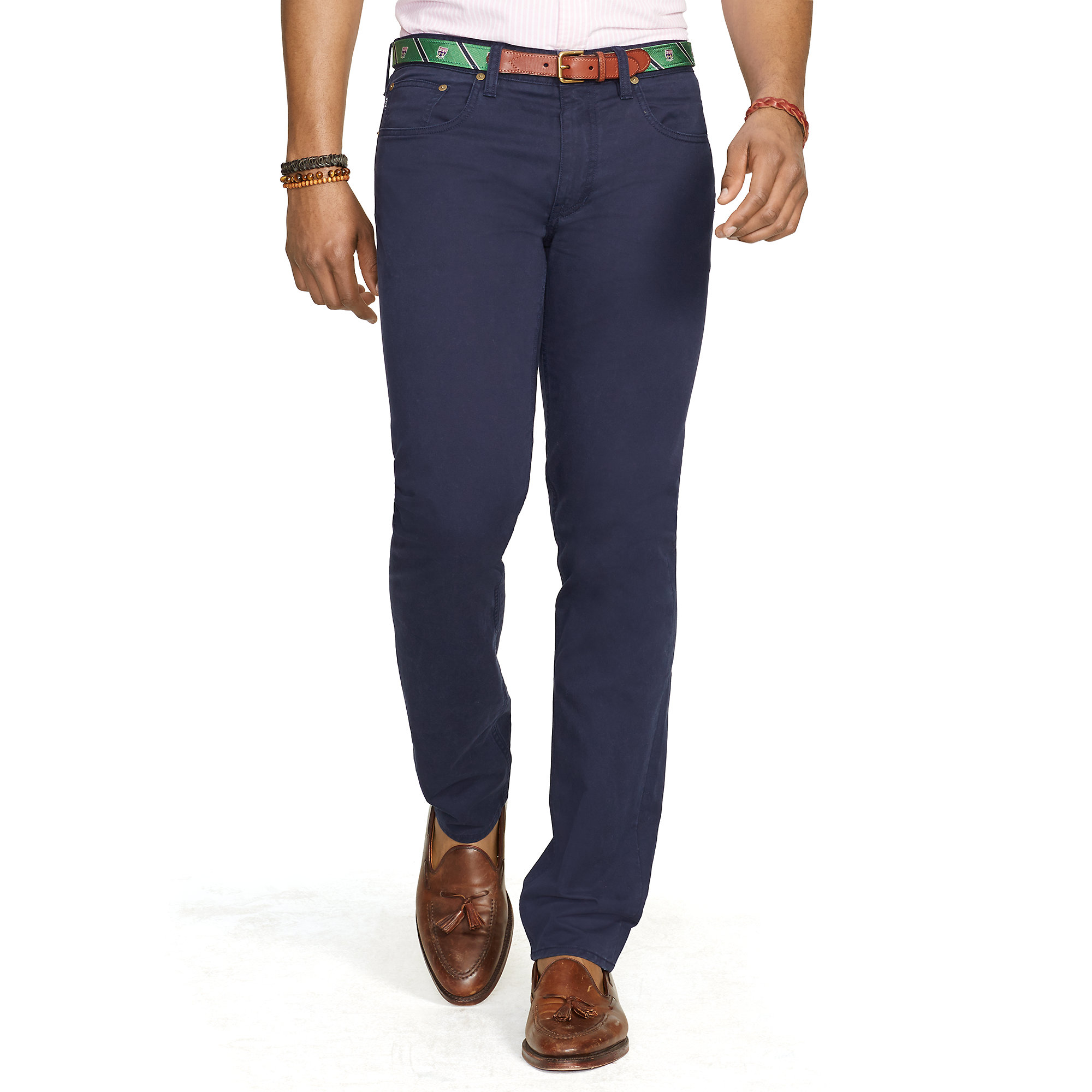e1b4ca7fa050 Lyst - Polo Ralph Lauren Slim Stretch 5-pocket Pant in Blue for Men