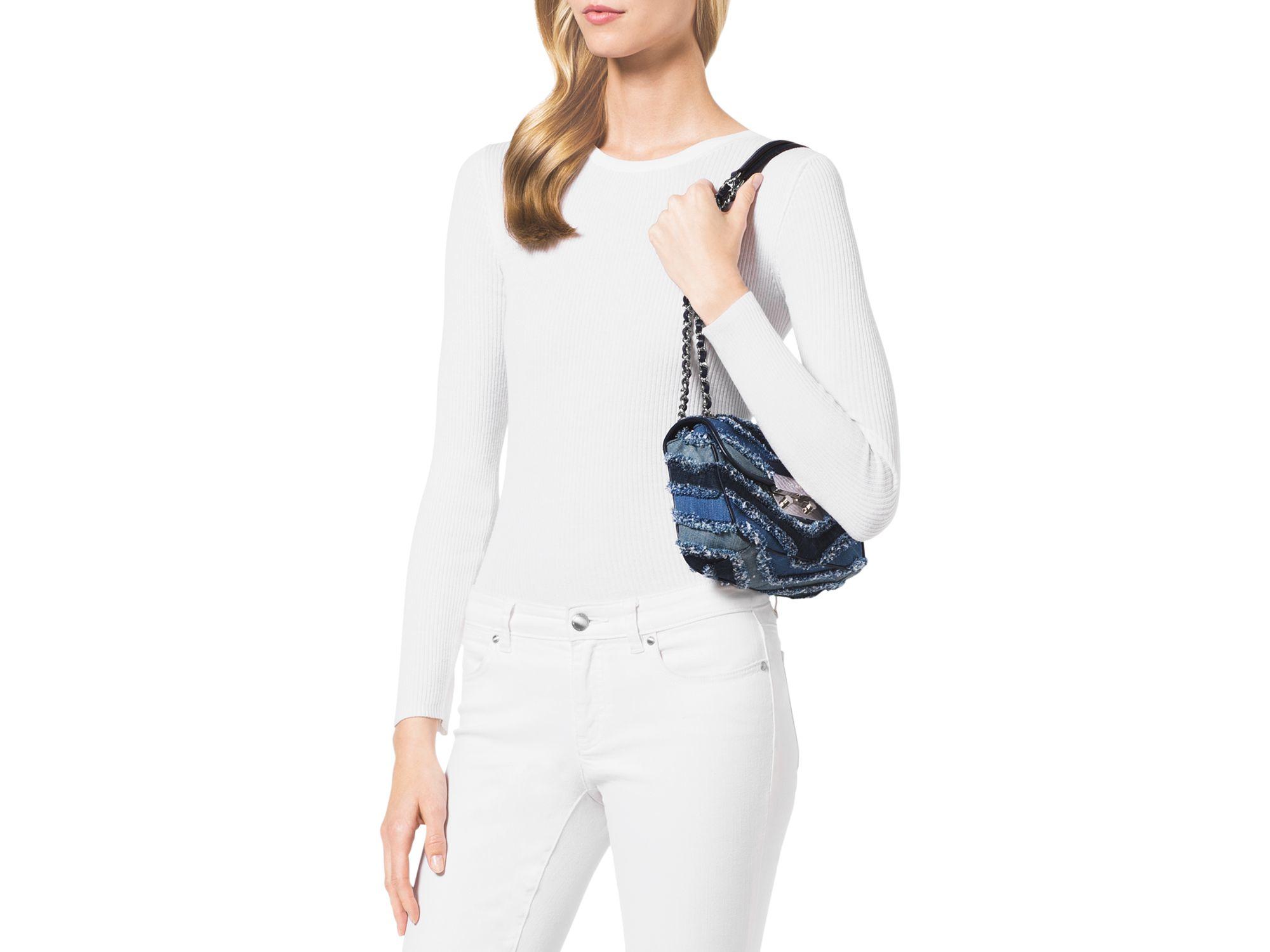 a8a3060a2792 Lyst - MICHAEL Michael Kors Small Sloan Shoulder Bag