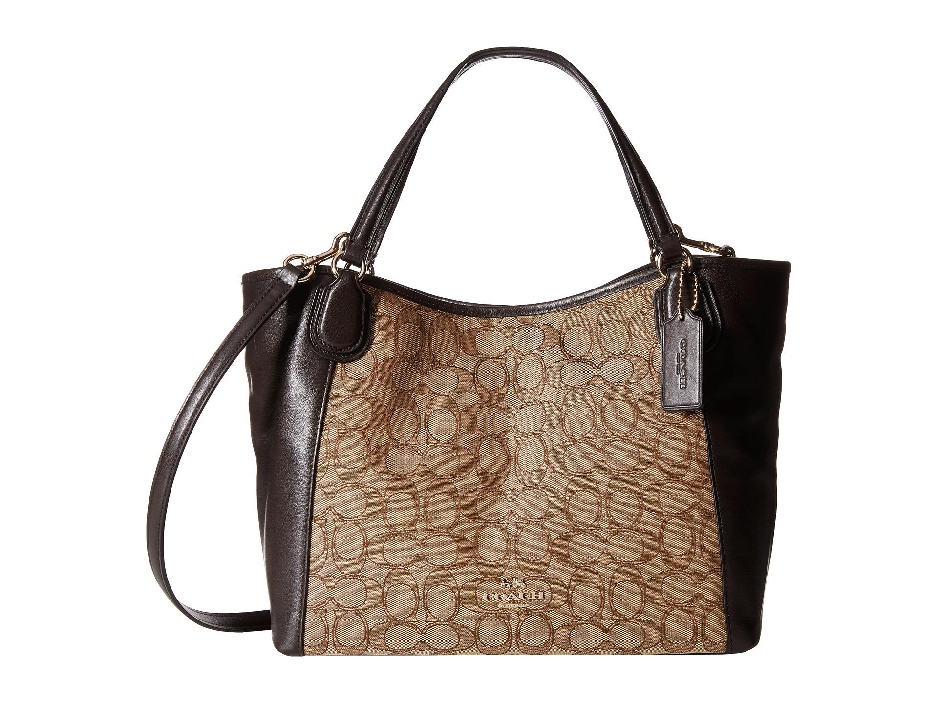 Lyst - COACH Signature Edie 28 Shoulder Bag in Brown 997a8f35b8