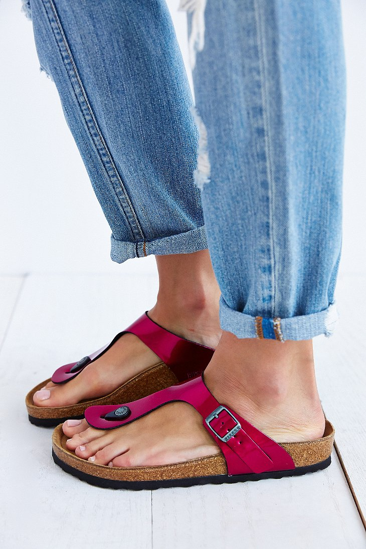 87a8b73a831f25 Lyst - Birkenstock Gizeh Thong Sandal in Pink