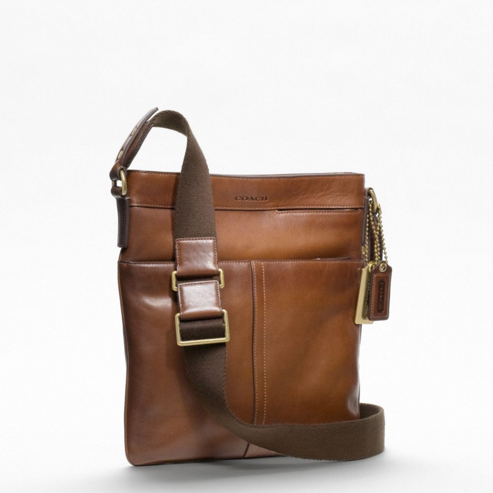 lyst coach bleecker legacy scout bag in brown for men