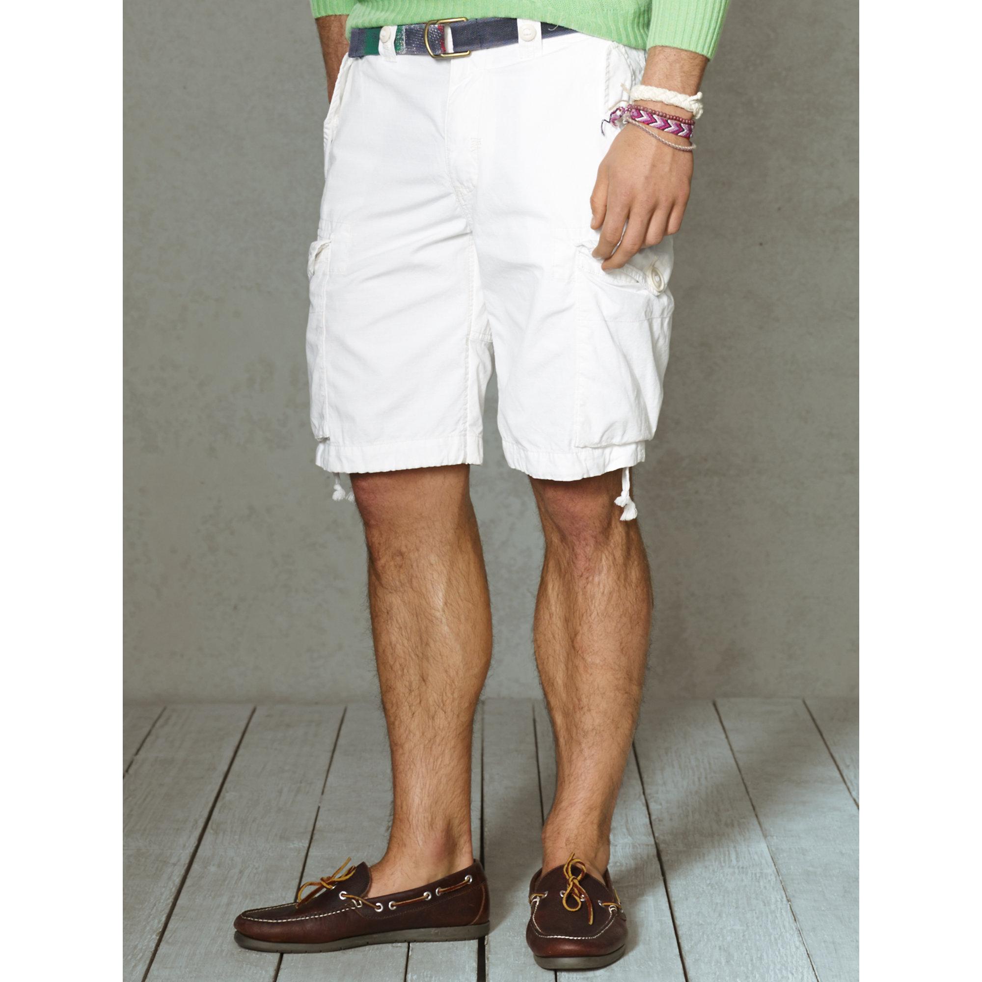 8696c1d88 Polo Ralph Lauren Classic-Fit Cargo Short in White for Men - Lyst