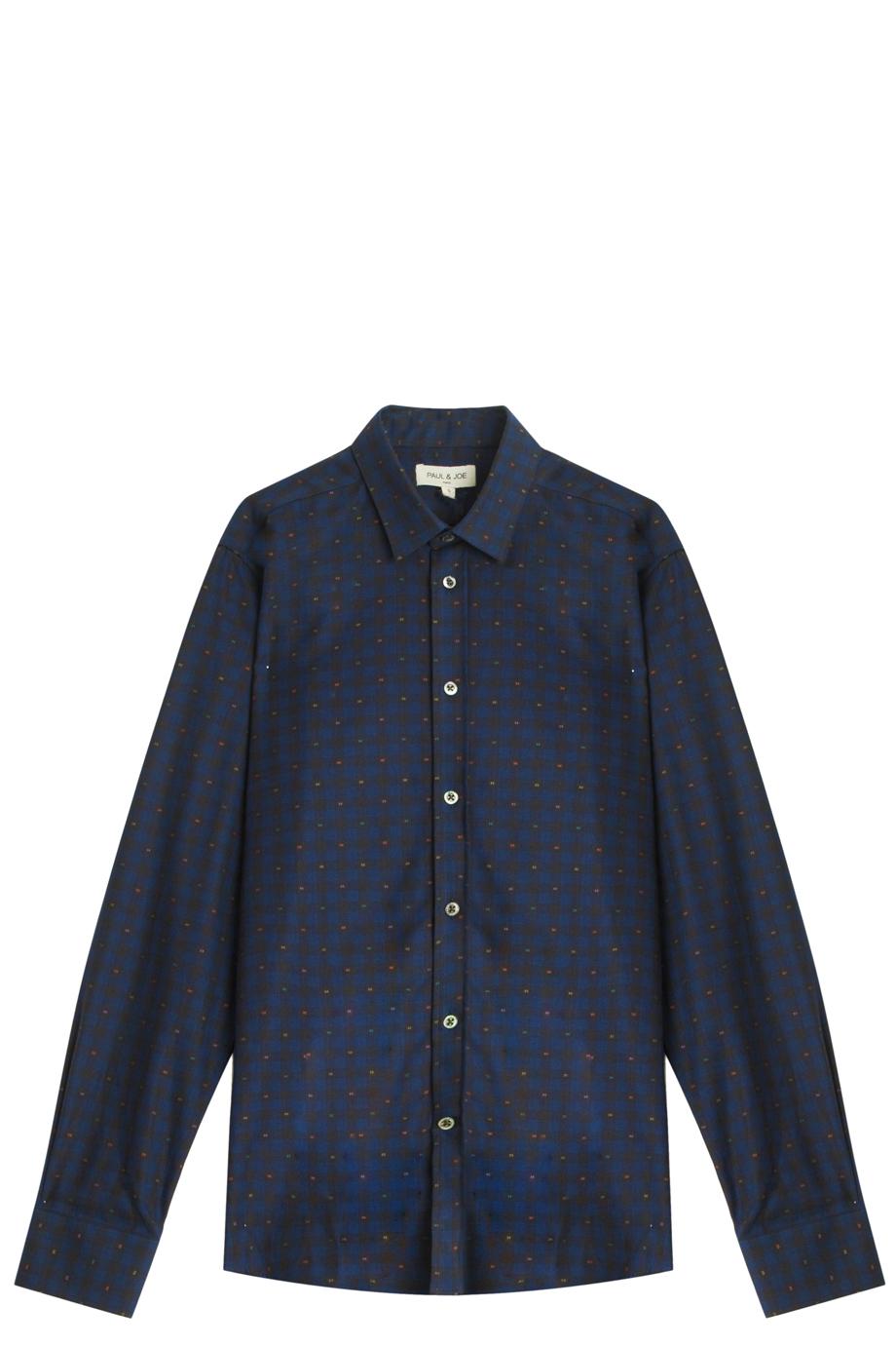 lyst paul joe check shirt in blue for men. Black Bedroom Furniture Sets. Home Design Ideas