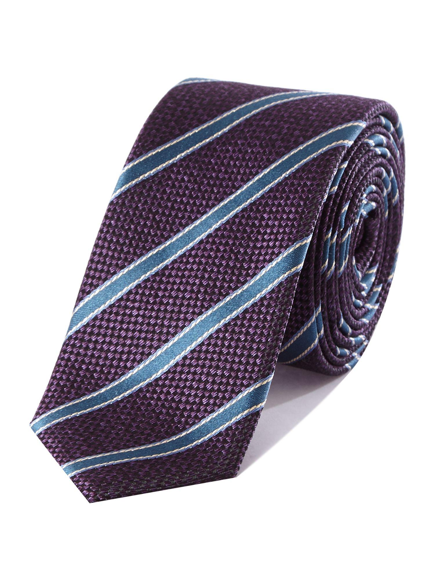 157b0696604fa6 Ted Baker Stripe Slim Tie in Purple for Men - Lyst