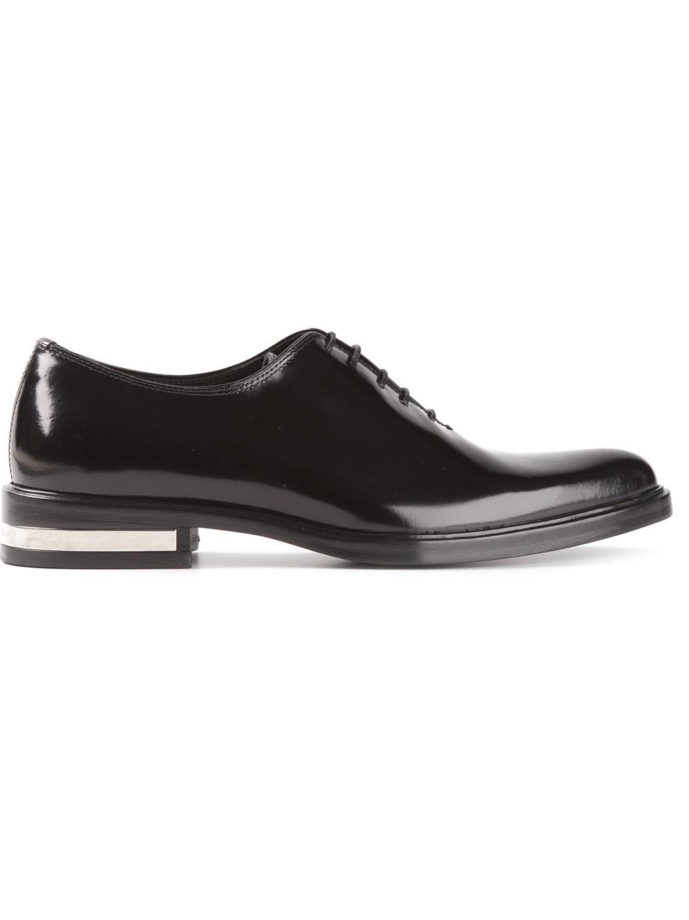 Men Richelieu Shoes White Sole