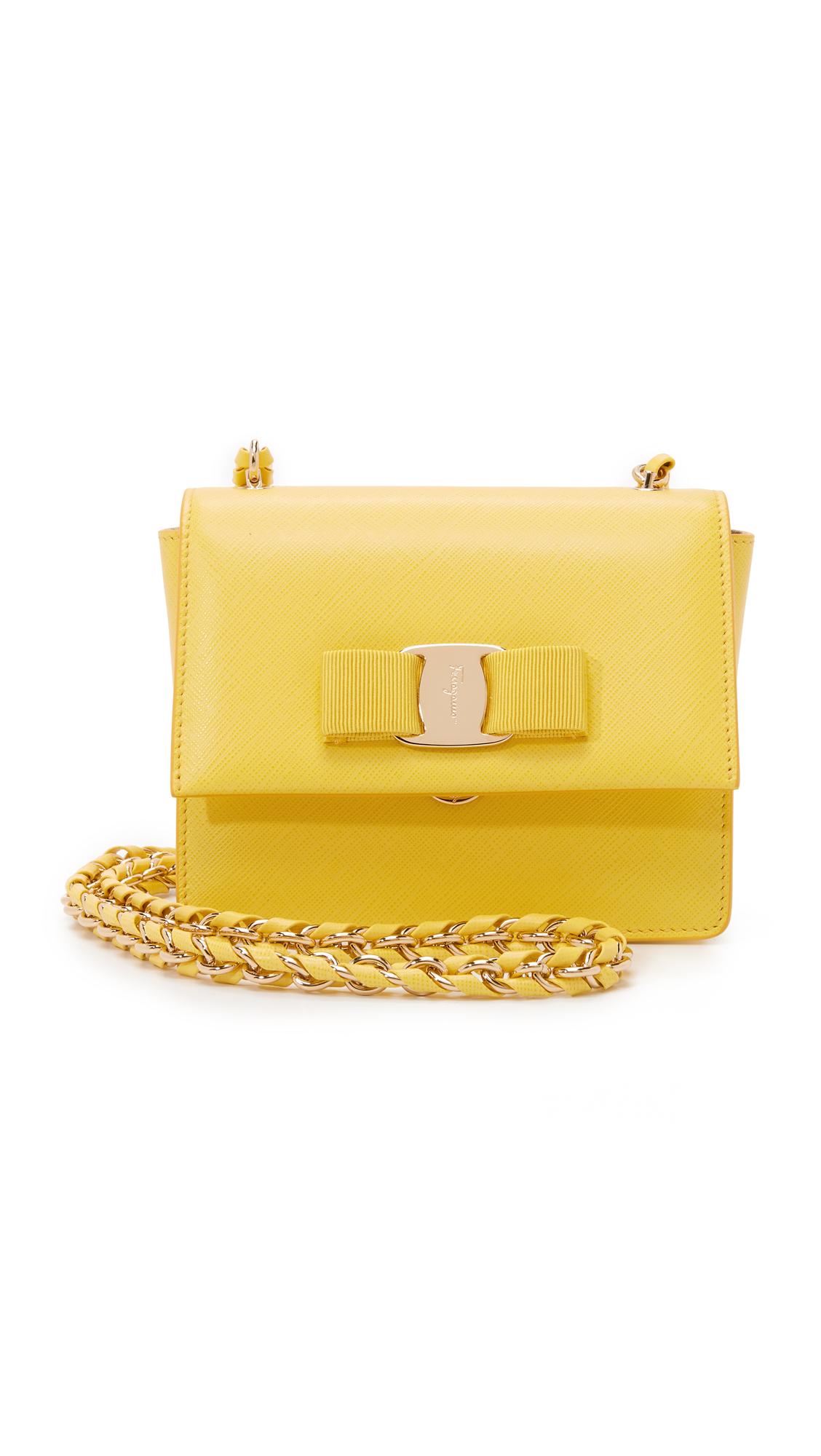 8ce78a405591 Lyst - Ferragamo Ginny Cross Body Bag in Yellow
