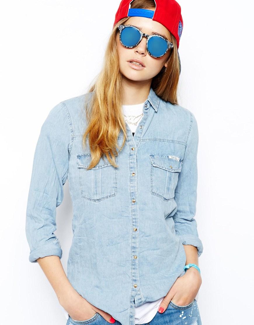 b328d584235 Lyst le specs hey macarena sunglasses in black jpg 870x1110 Hey macarena