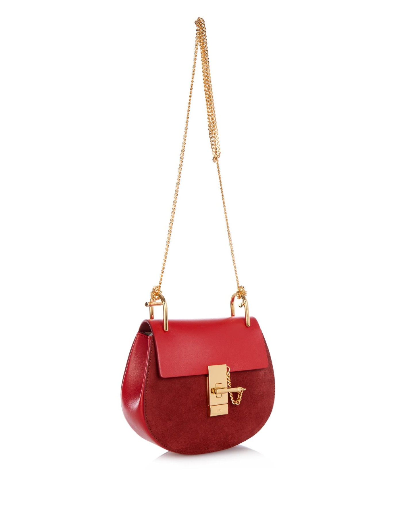 blue chloe handbag - Chlo�� Drew Cross-Body Bag in Red | Lyst