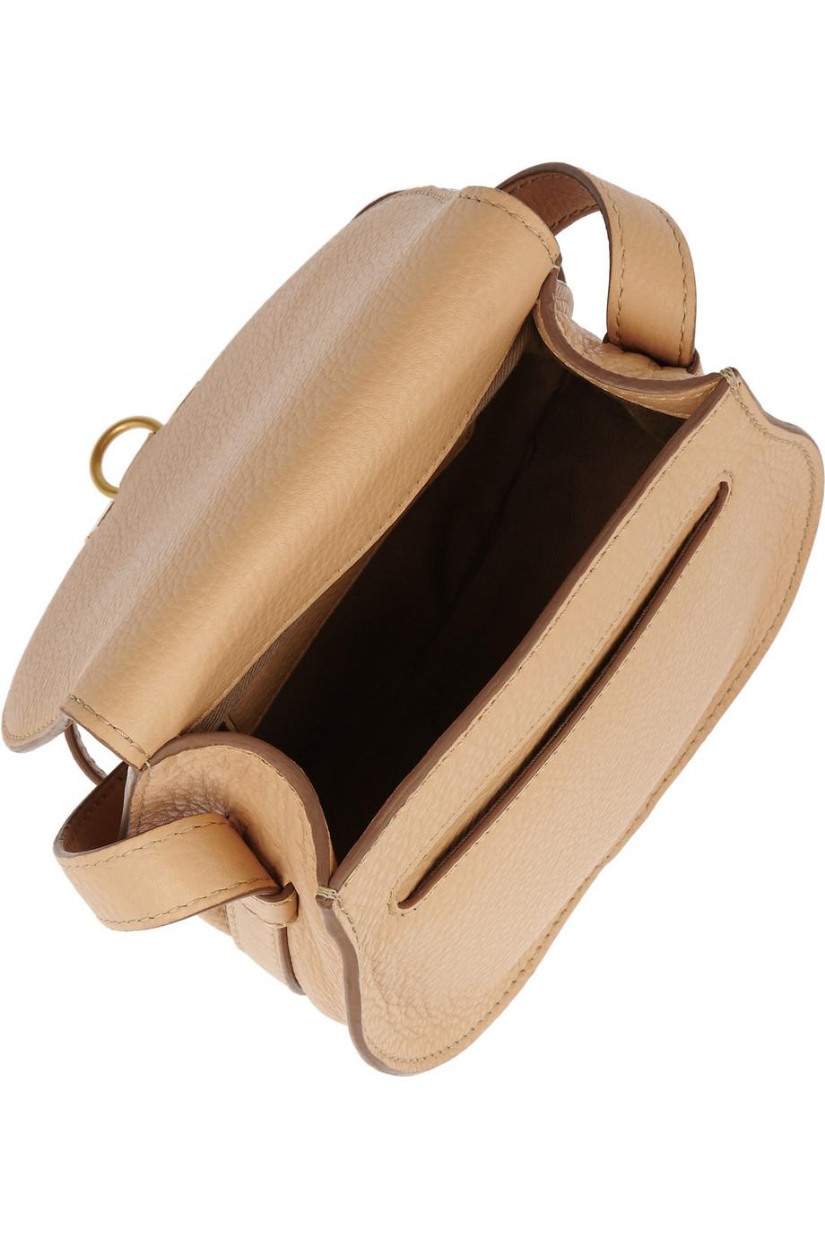chloe the marcie mini textured-leather shoulder bag