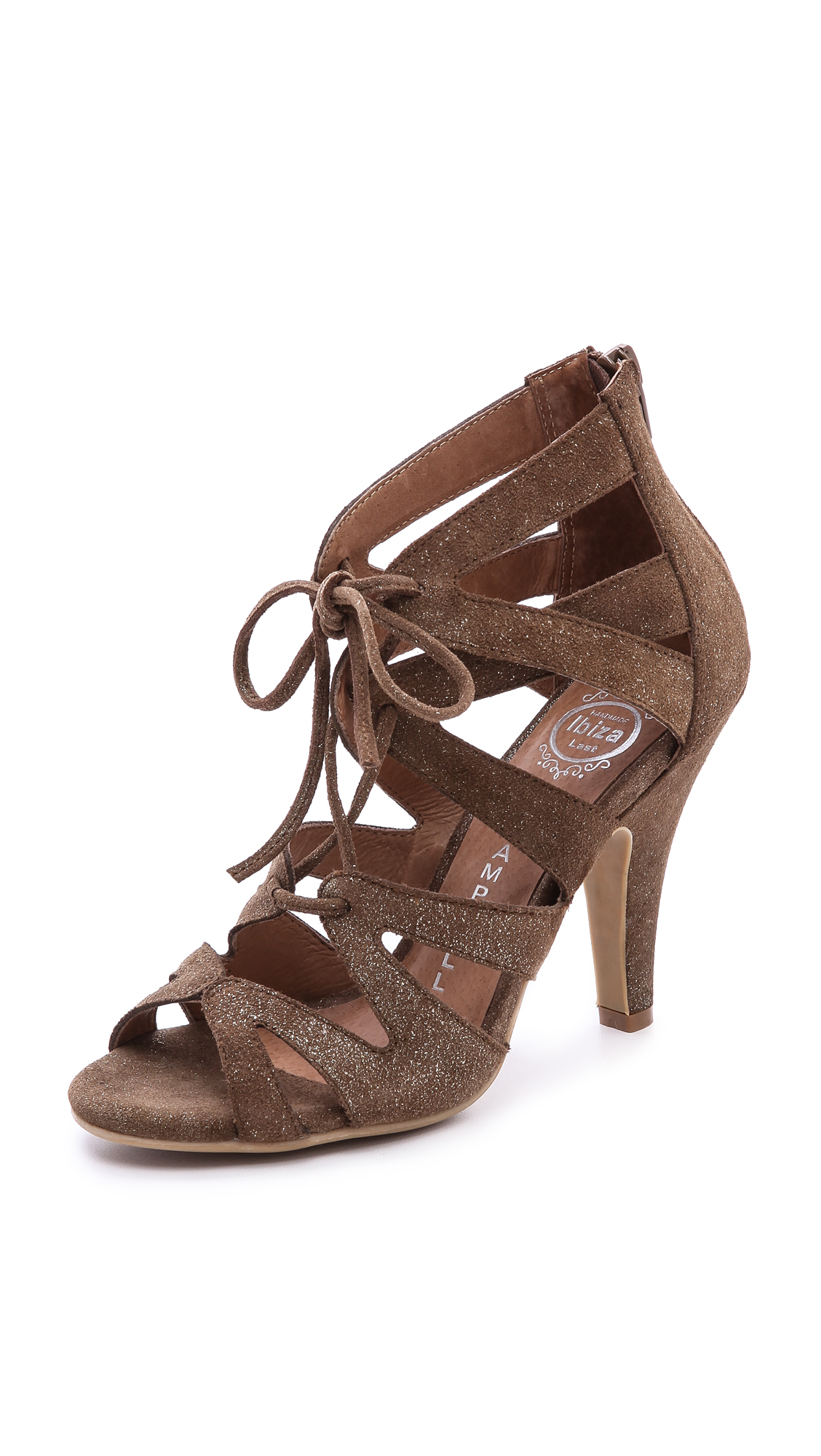 Jeffrey campbell Laramie Lace Up Sandals Brown in Brown