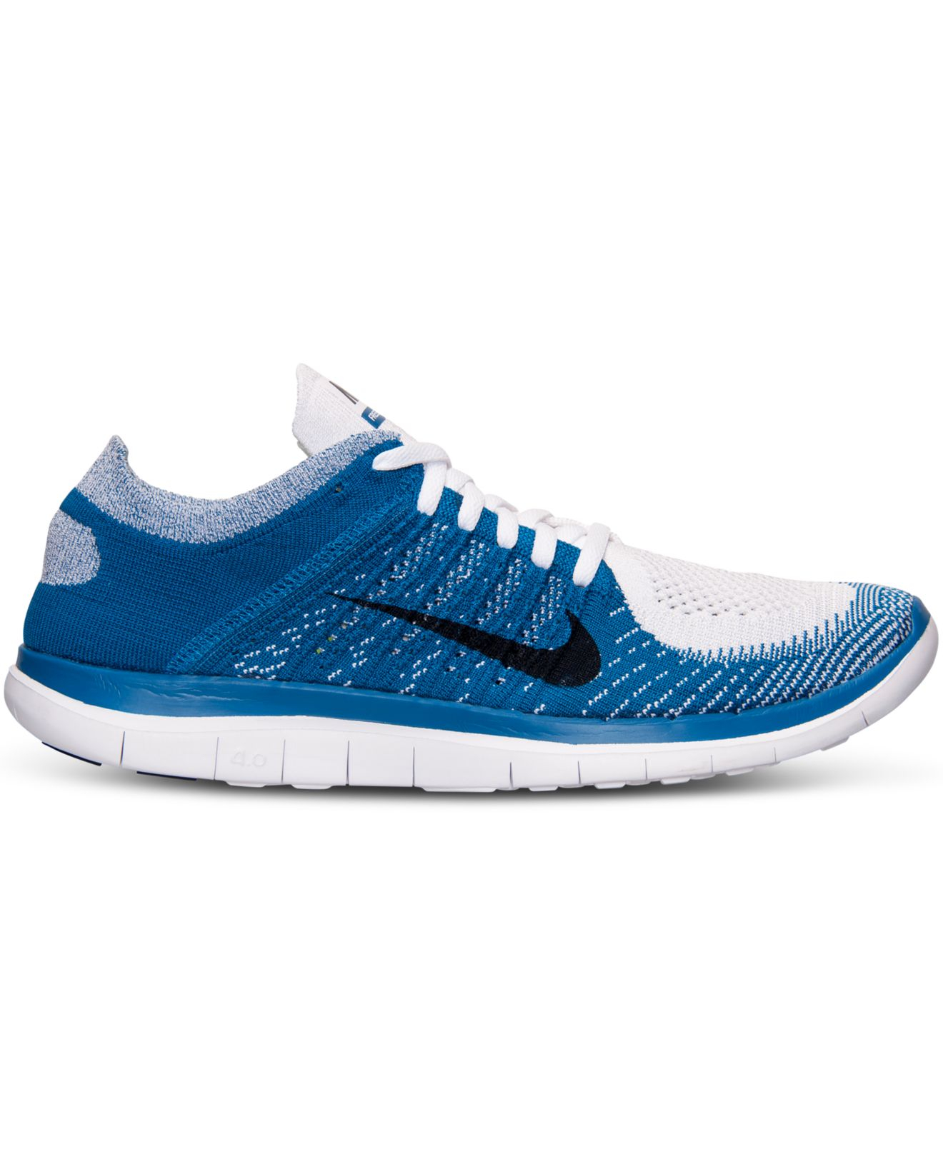 ea21f3a732fad Nike - Blue Men S Free Flyknit 4.0 Running Sneakers From Finish Line for Men  - Lyst