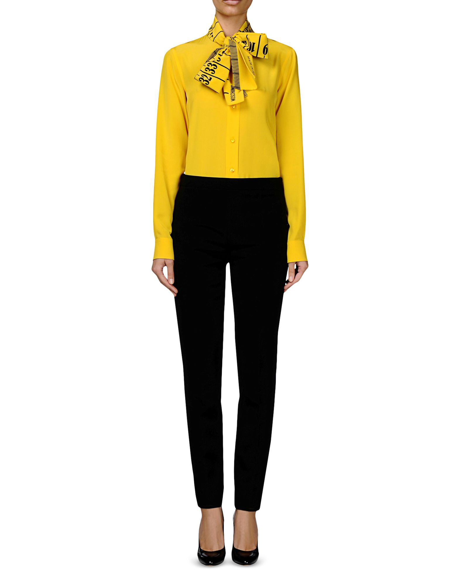 Lyst Moschino Long Sleeve Shirt In Yellow
