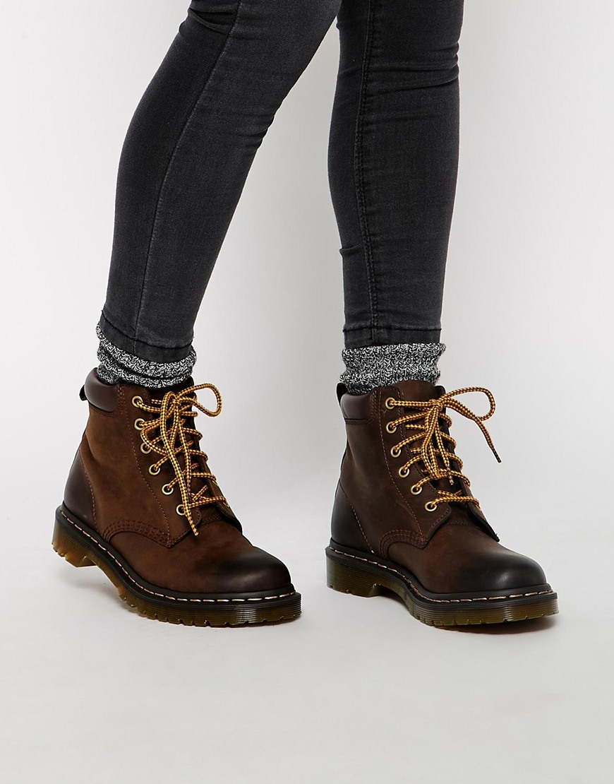 dr martens core 939 brown hiking boots in brown lyst. Black Bedroom Furniture Sets. Home Design Ideas