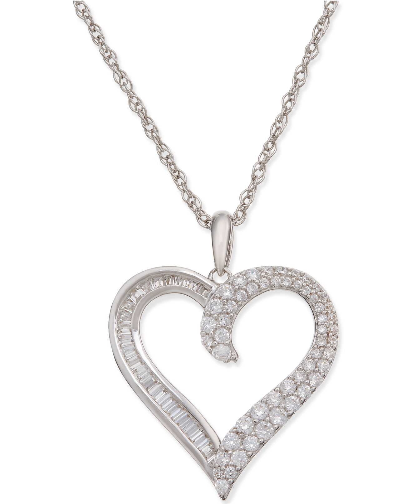 White Gold And Diamond Infinity Necklace