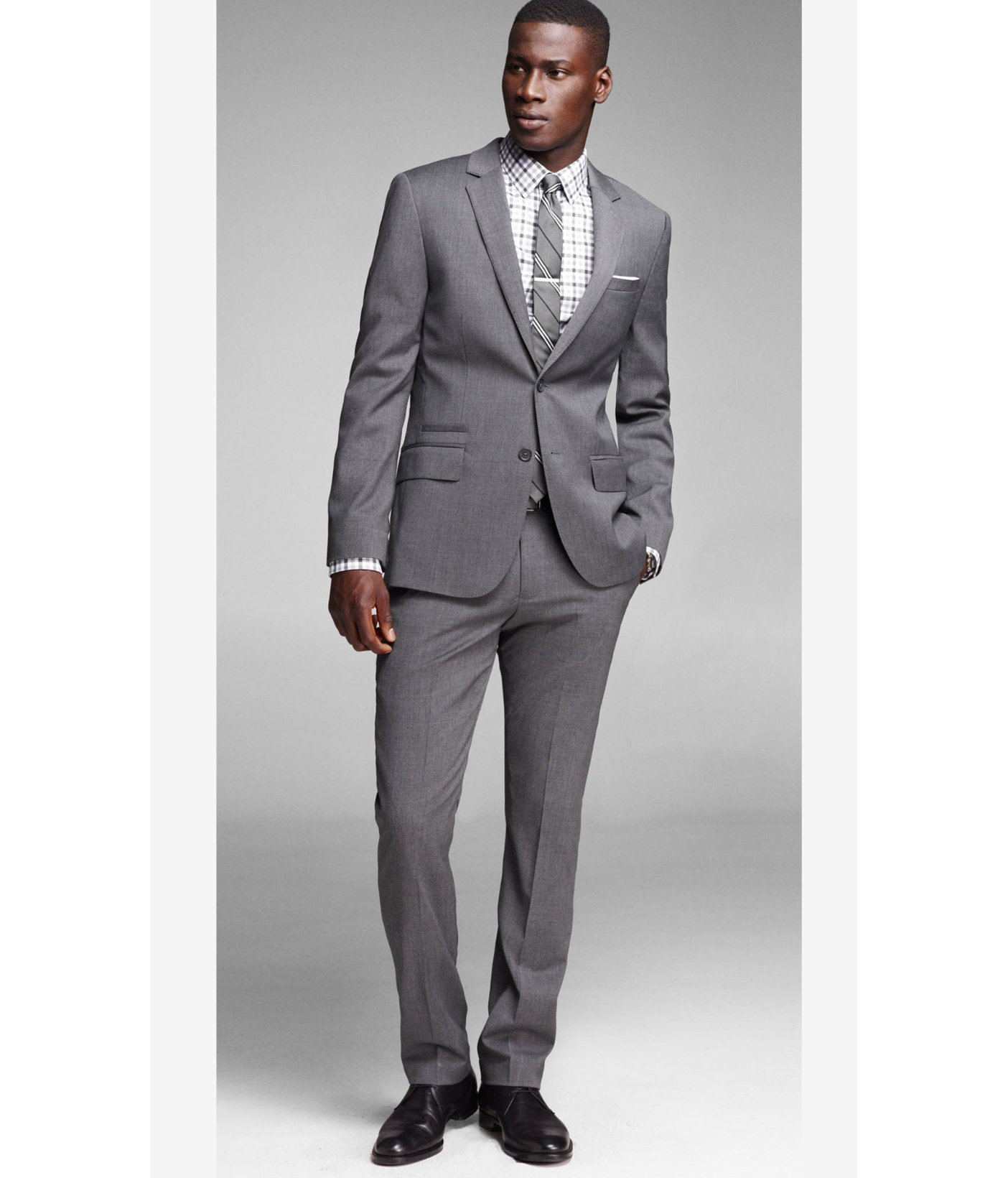Lyst - Express Gray Photographer Suit Jacket in Gray for Men