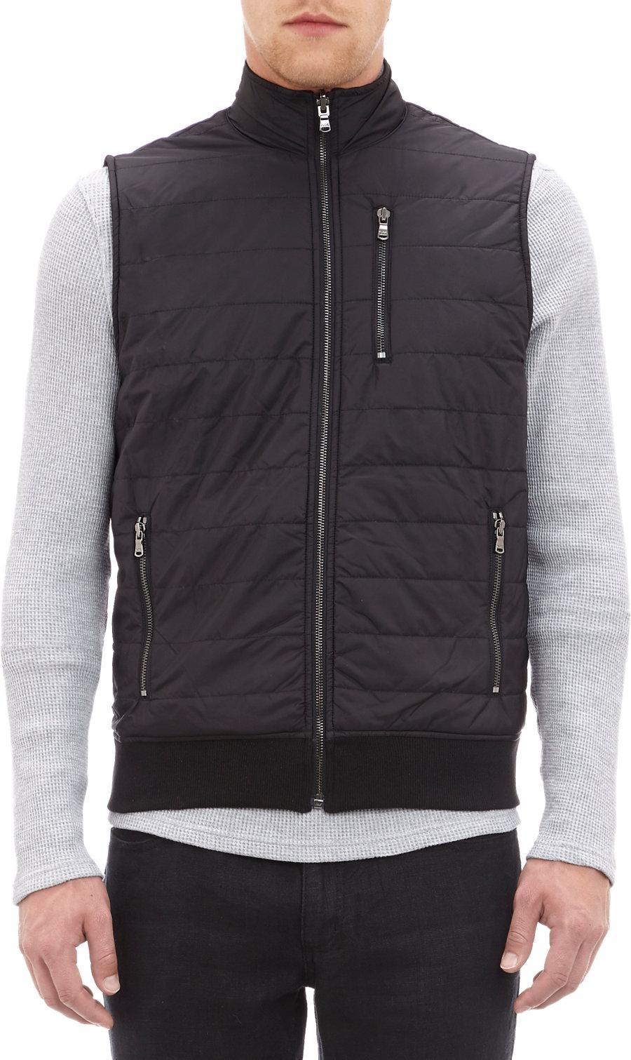Michael Kors Reversible Vest In Black For Men Lyst