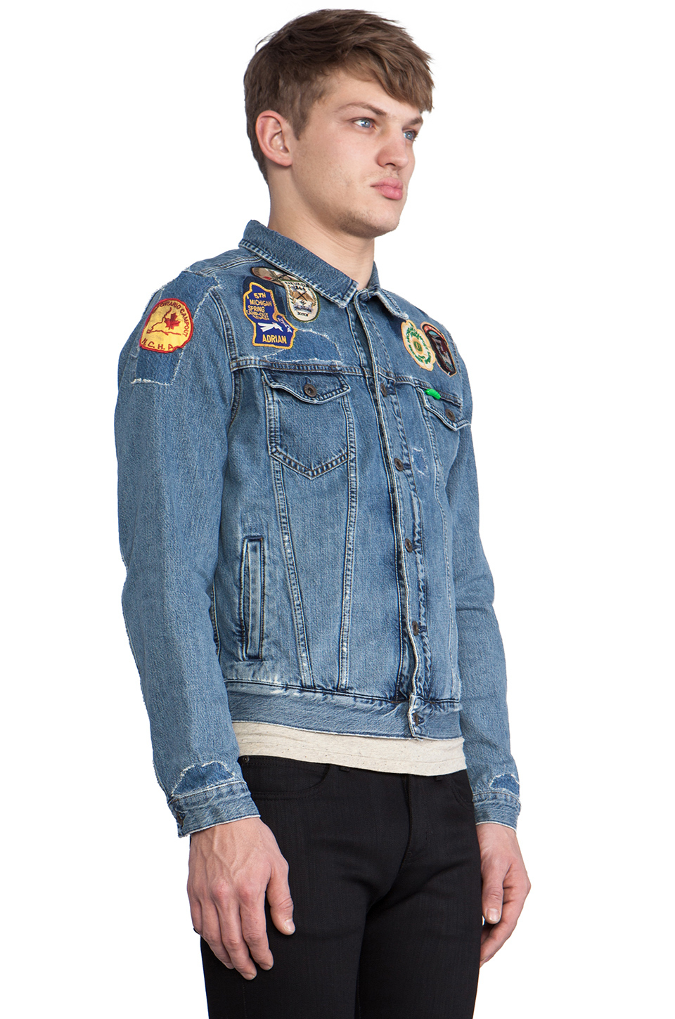 Scotch U0026 Soda Denim Jacket W Patches In Blue In Blue For Men | Lyst