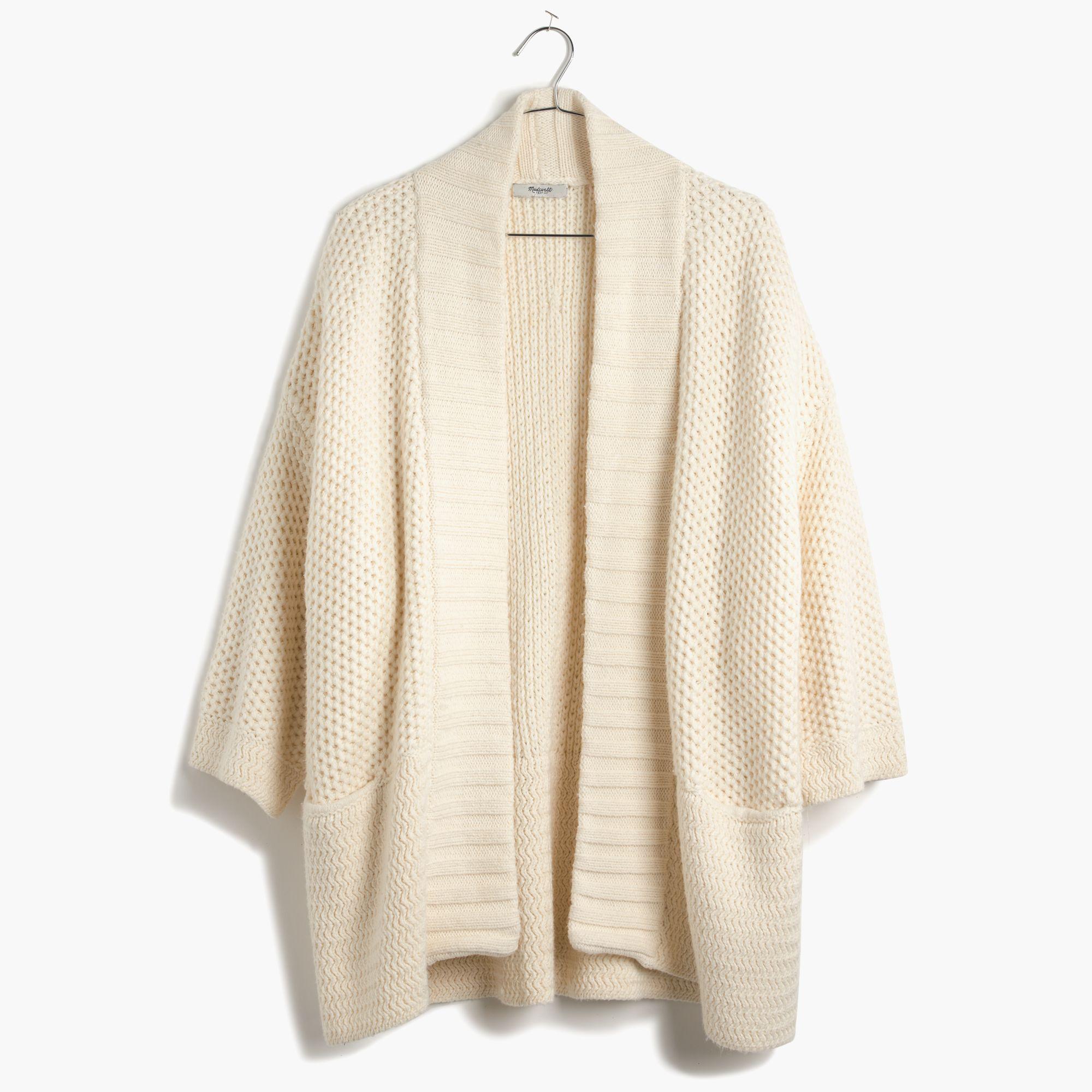 Madewell Kimono Cardigan Sweater in Natural | Lyst