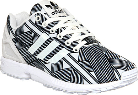 23247828a adidas Zx Flux Patterned Trainers - For Women in Black - Lyst