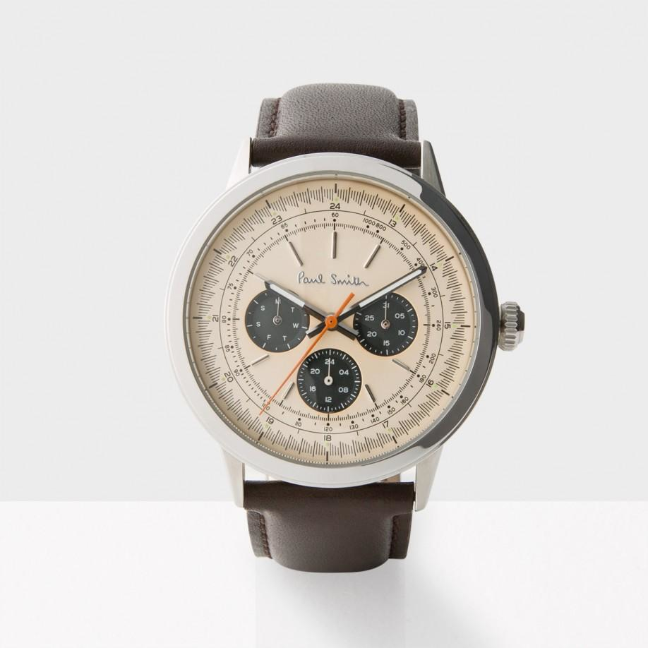 paul smith men s rose gold and brown precision watch in pink for gallery