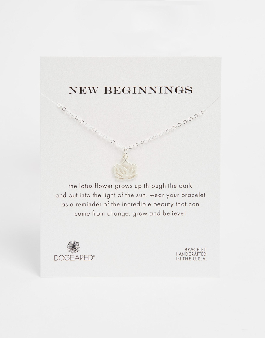 Lyst Dogeared Sterling Silver New Beginnings Lotus Friendship