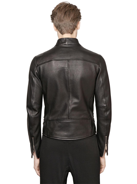 Armani black leather jacket