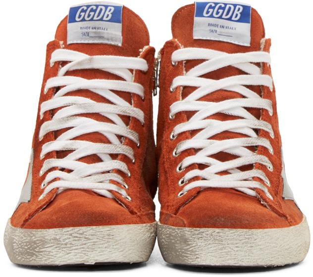 d916f0d400ef Lyst - Golden Goose Deluxe Brand Orange Suede Francy High-top ...
