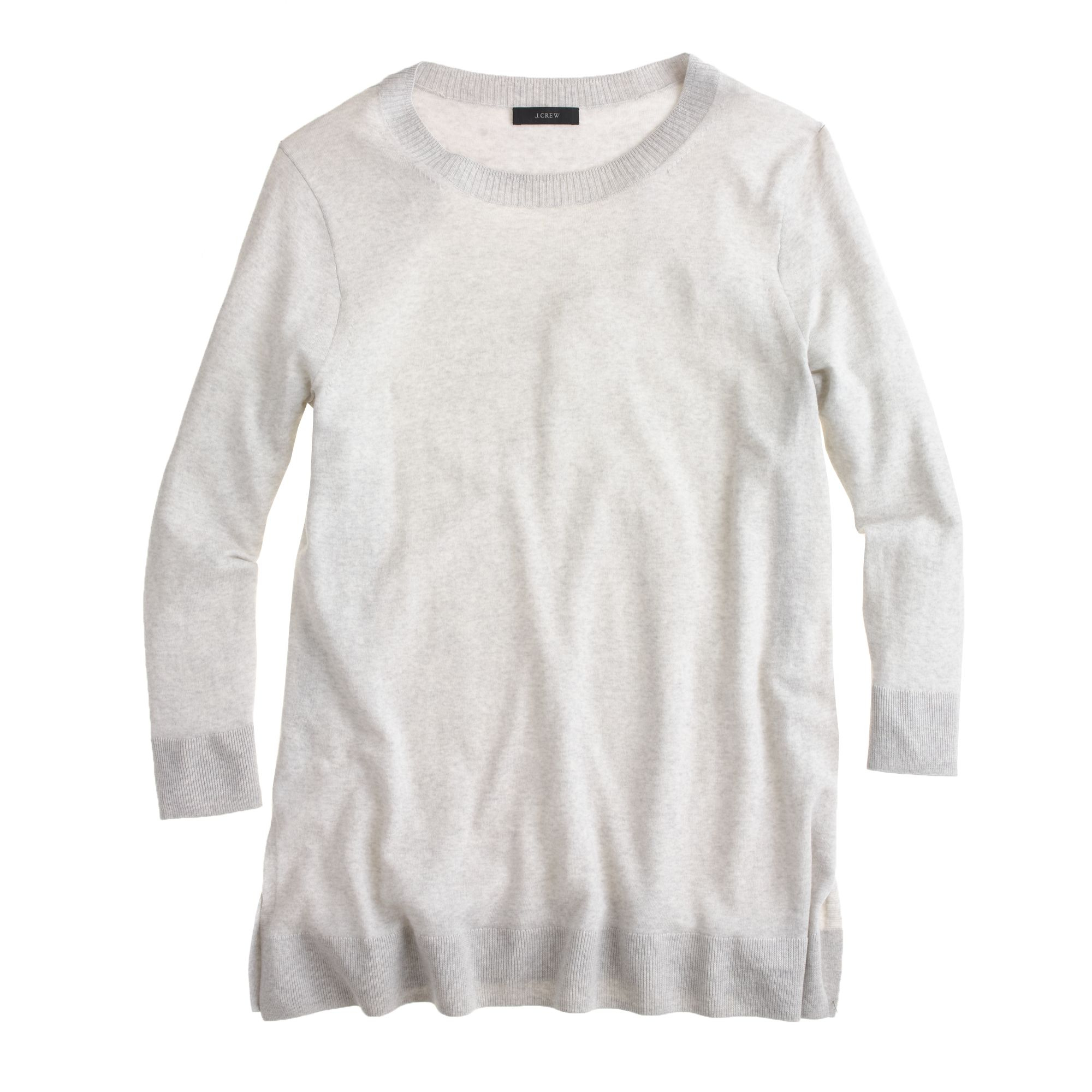 J.crew Lightweight Merino Tunic Sweater in White | Lyst