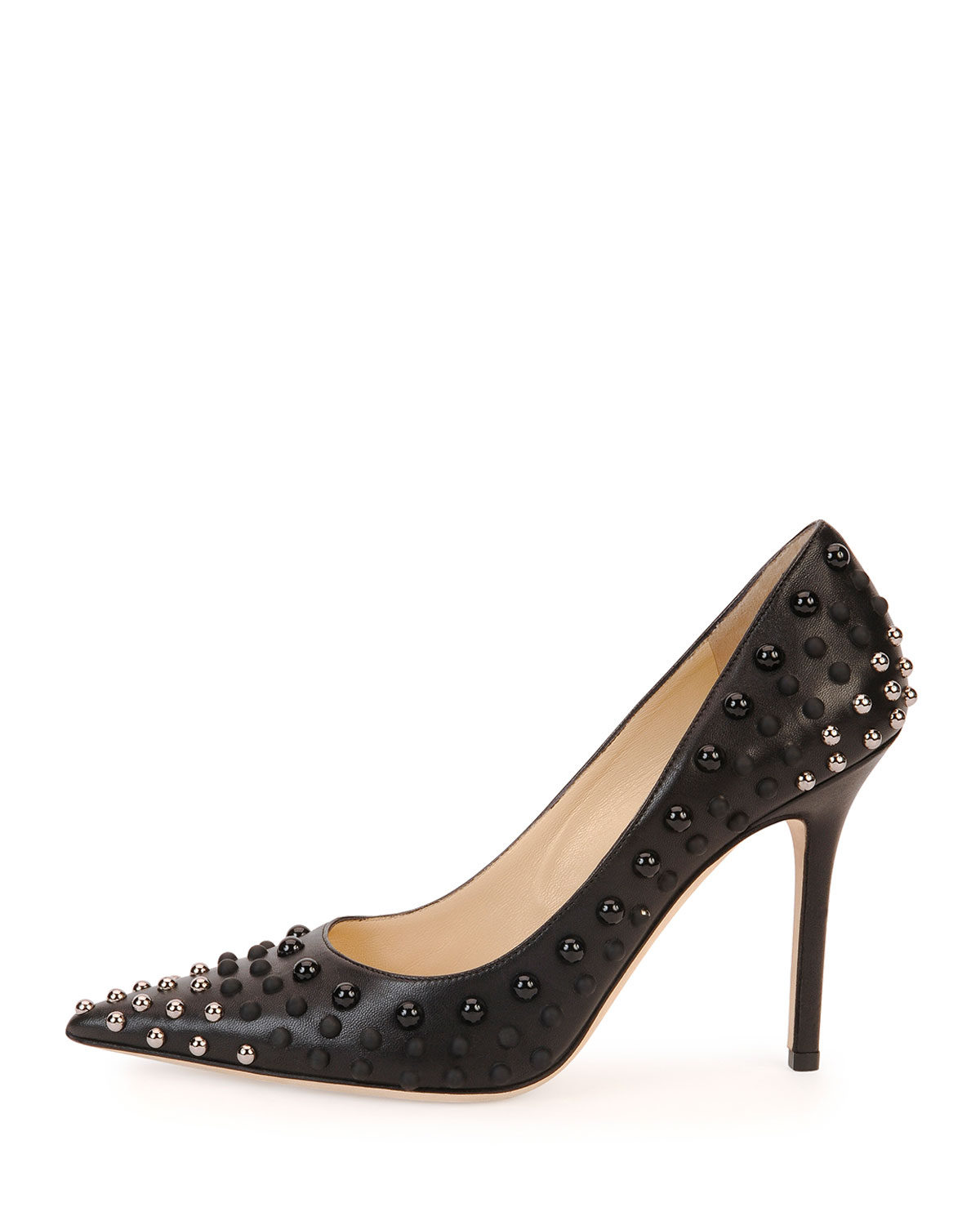 b6e7625d8a4a Lyst - Jimmy Choo Abel Studded Point-toe Pump in Black