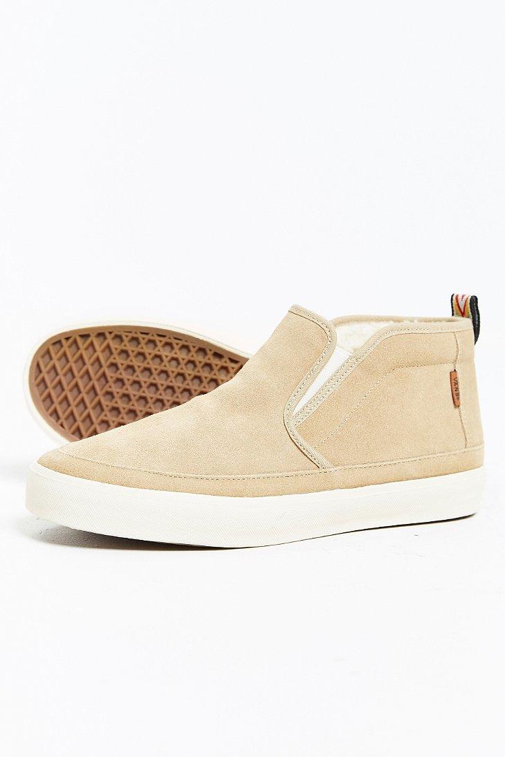 9b84fff1b66d03 Lyst - Vans Mid Slip Sf Sneaker in Natural for Men
