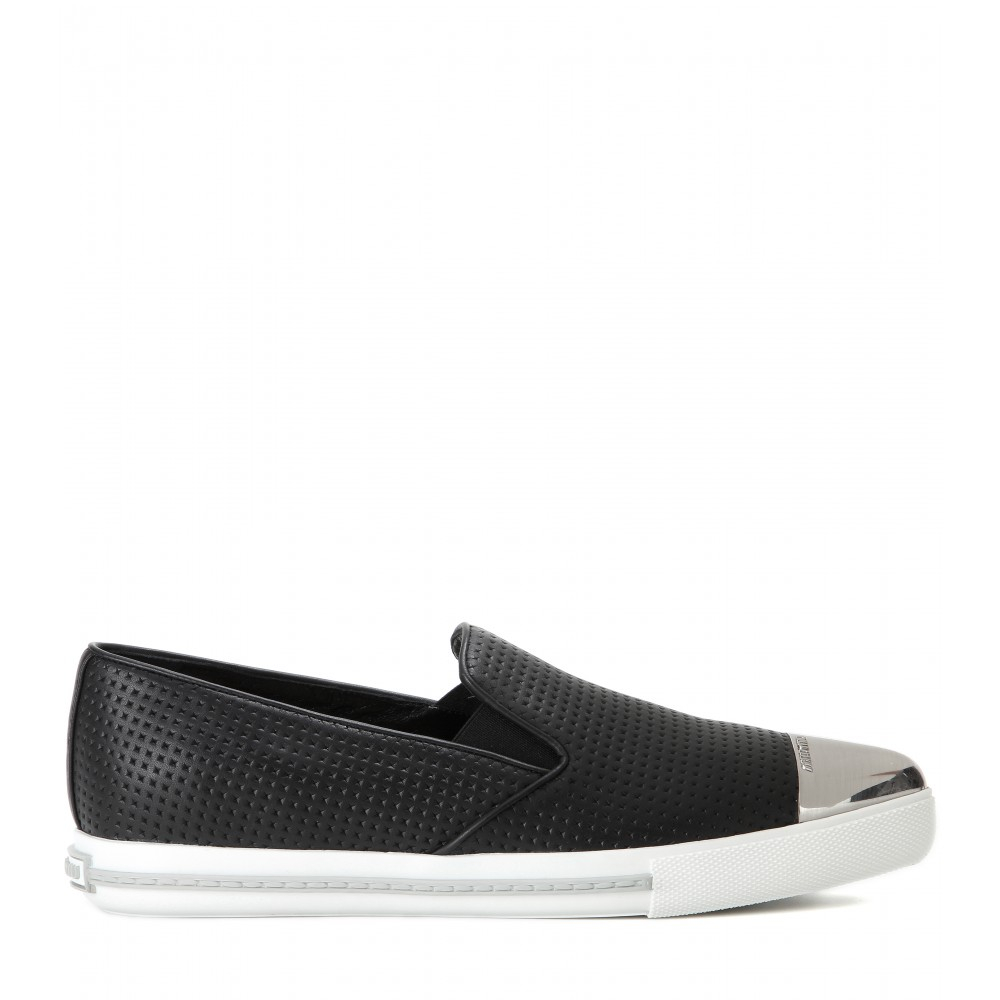 Miu Miu Black Slip-On Sneakers shopping online L0h0U2