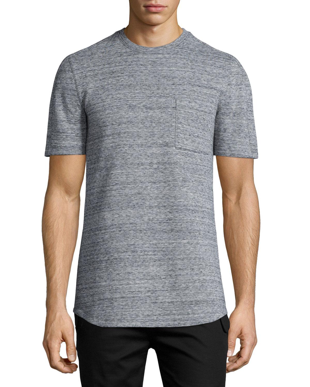 Helmut lang melange short sleeve crewneck t shirt in gray for Helmut lang tee shirts