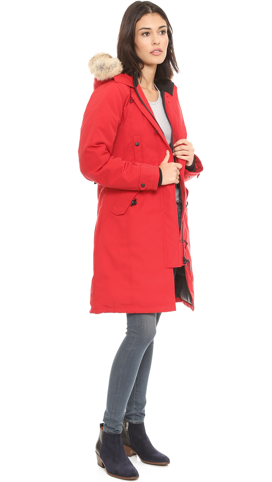 Canada Goose hats outlet official - Canada goose Kensington Parka - Red in Red | Lyst