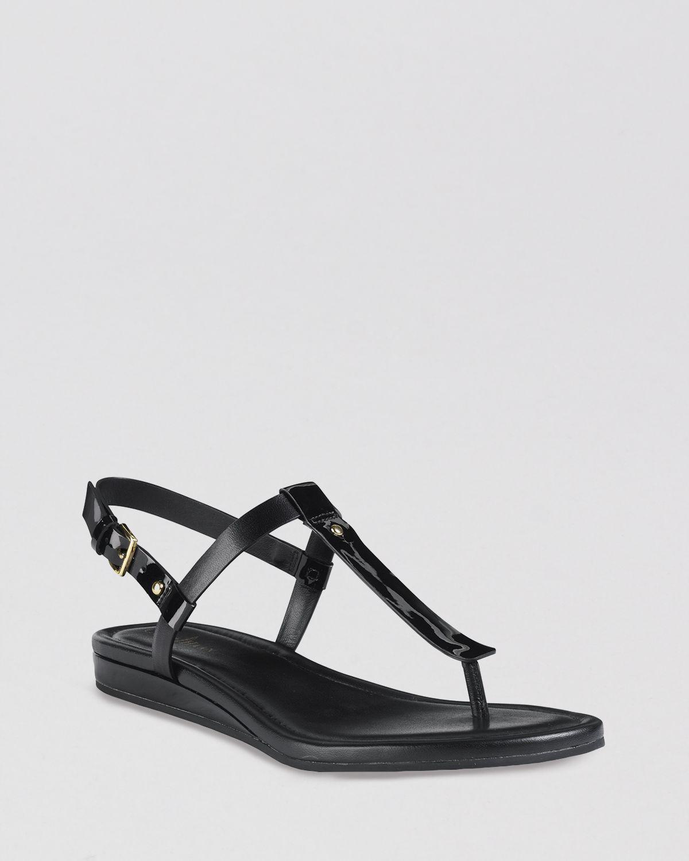 83a9b876f8a1 Lyst - Cole Haan Flat Thong Sandals Boardwalk in Black