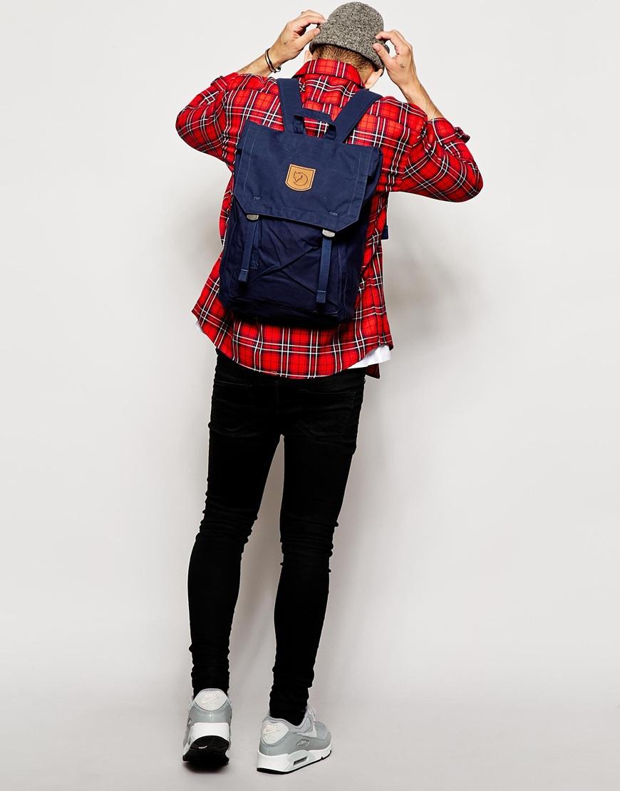 fjallraven foldsack no 1 backpack in blue for men