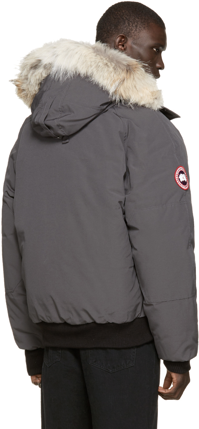 Lyst Canada Goose Grey Down Amp Fur Chilliwack Bomber In