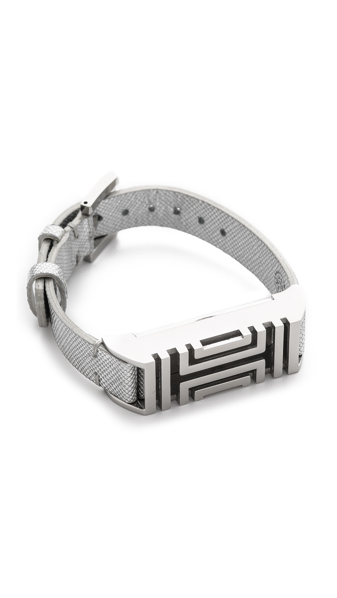Lyst Tory Burch For Fitbit Leather Bracelet Tory