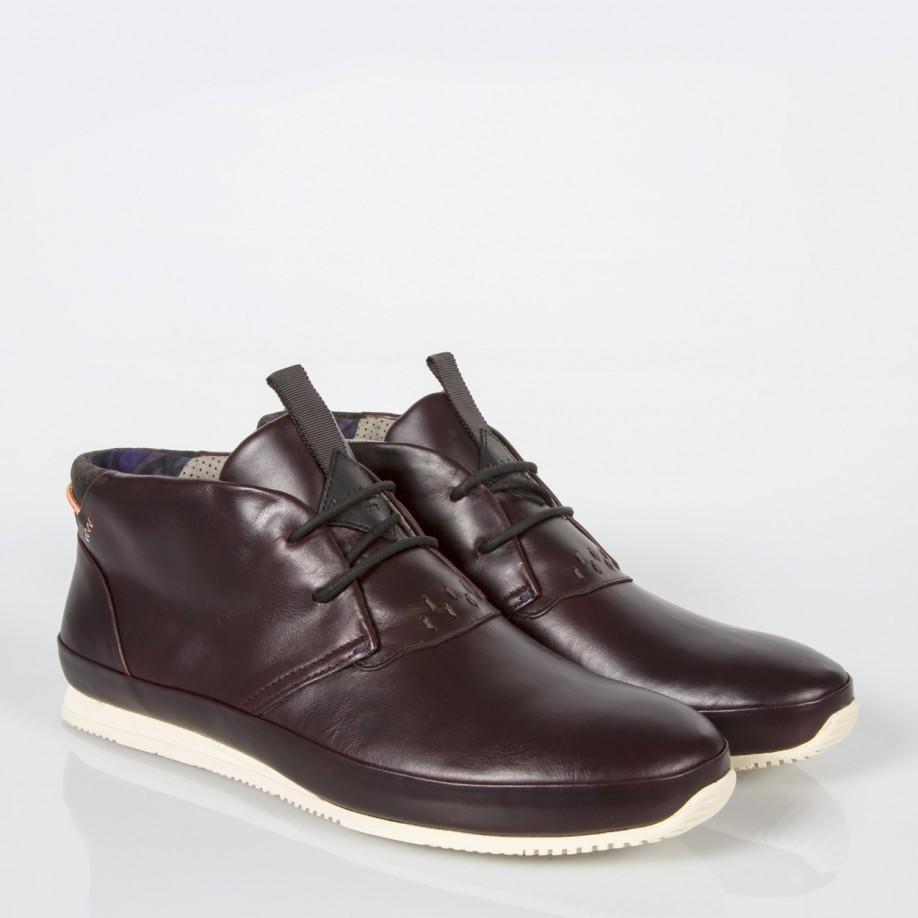 paul smith s bordeaux leather bernofsky chukka boots