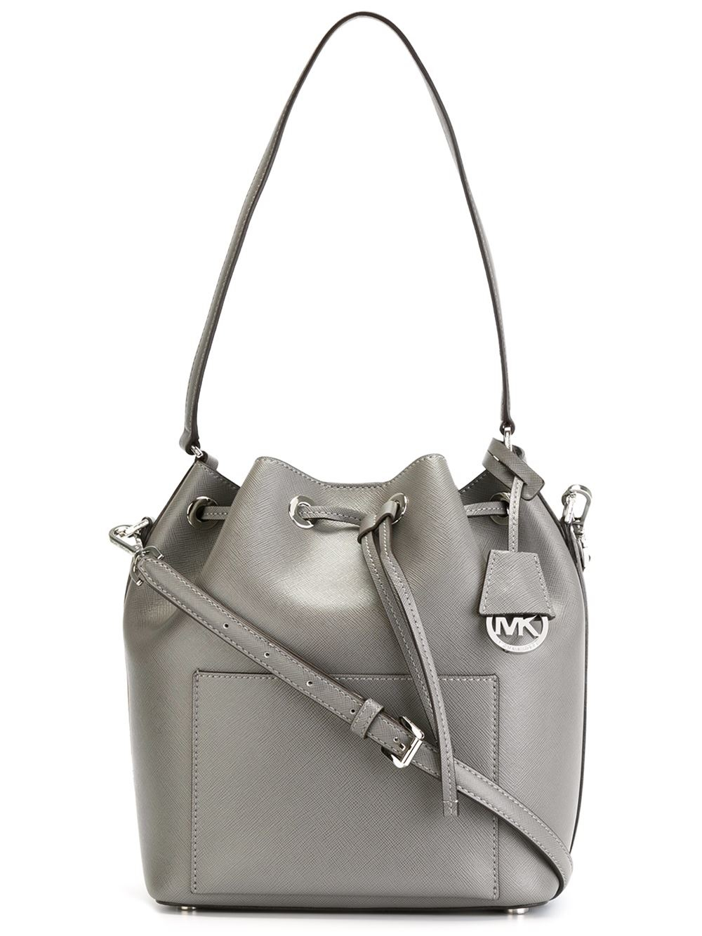 Lyst - MICHAEL Michael Kors Greenwich Bucket Bag in Gray 062f763ea569f