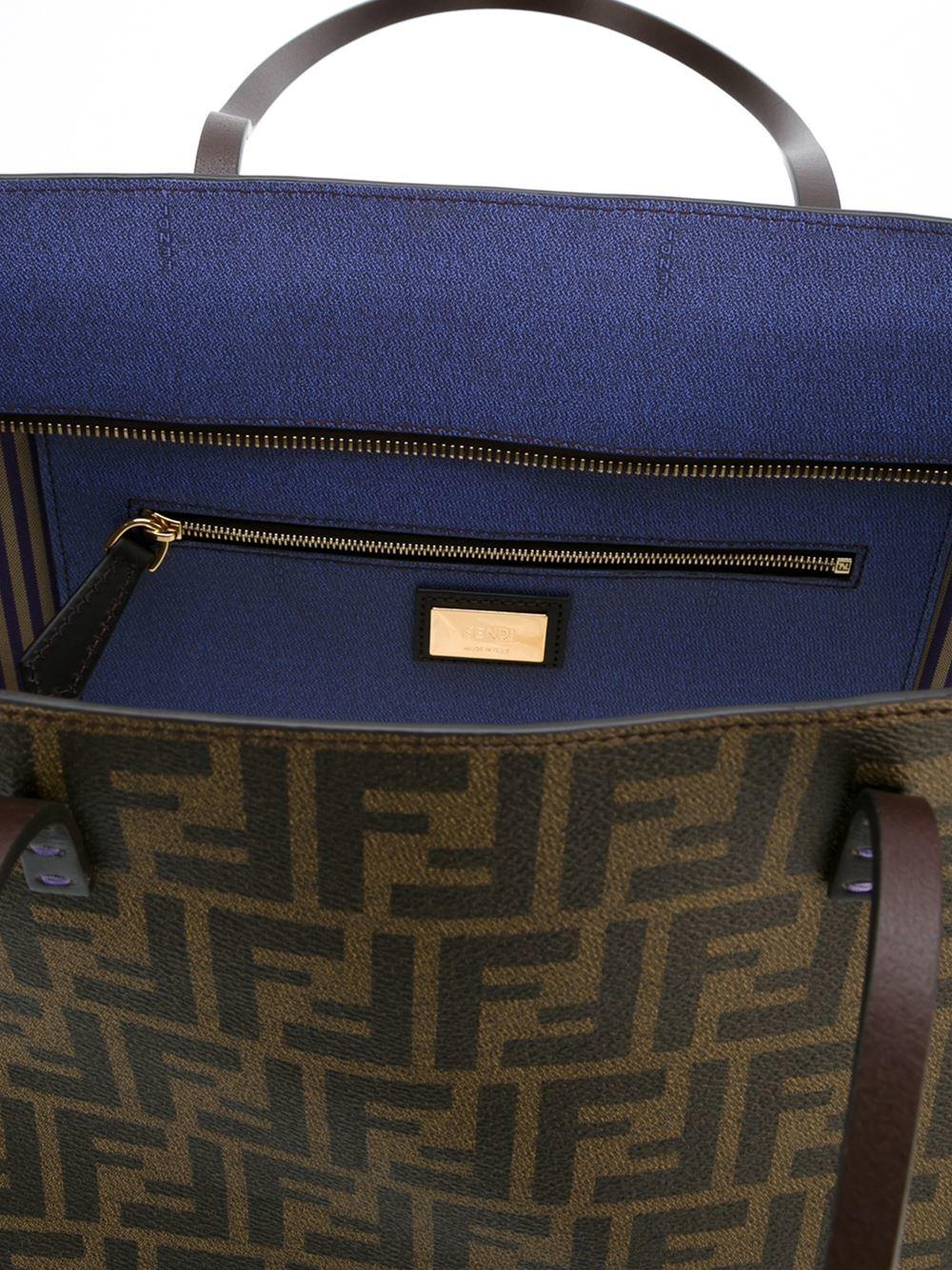 2285874611e8 ... discount code for fendi roll bag zucca in brown lyst 50592 952a9
