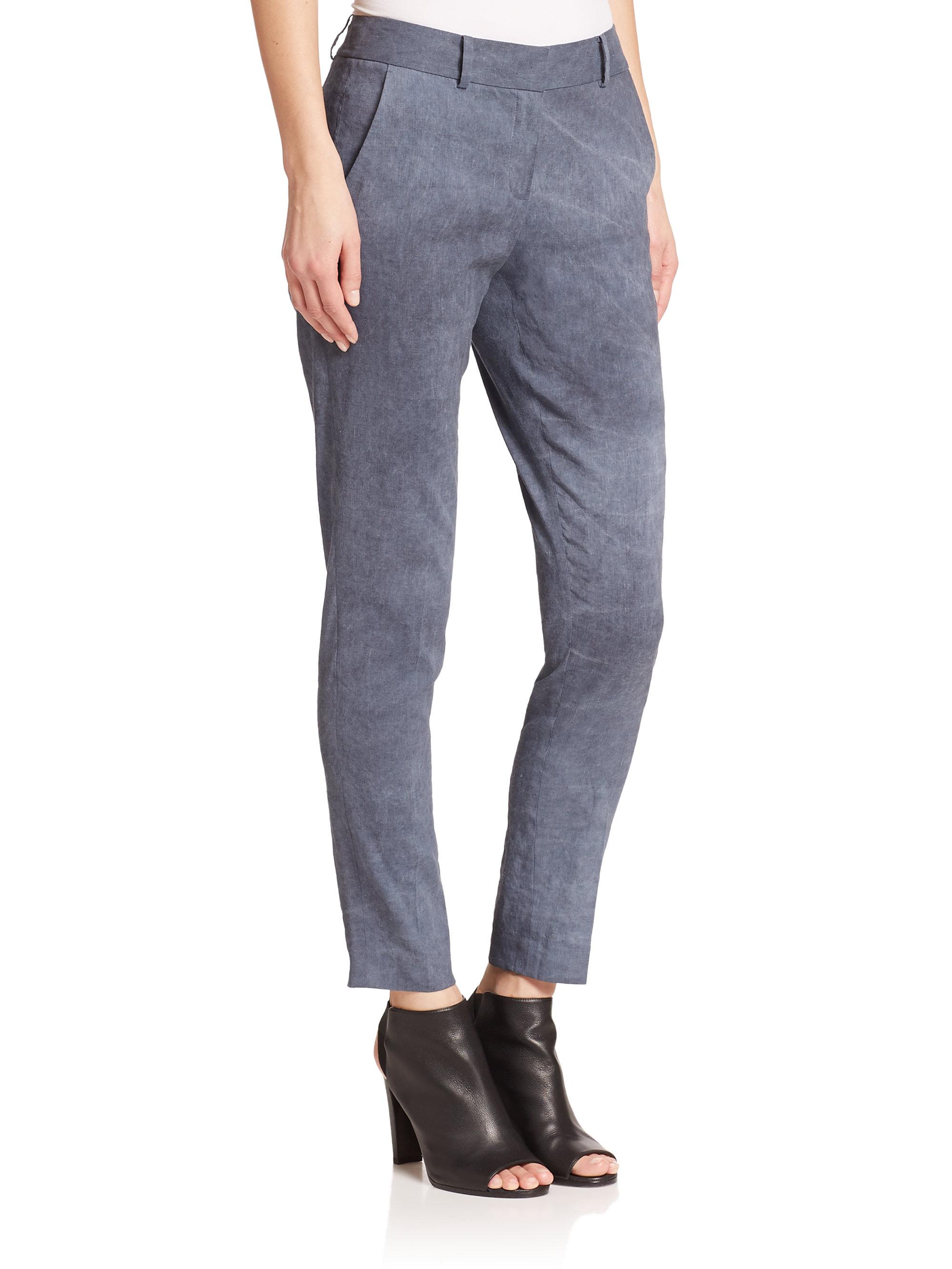 99871eb7c8d Lyst - Elie Tahari Alanis Pants in Gray