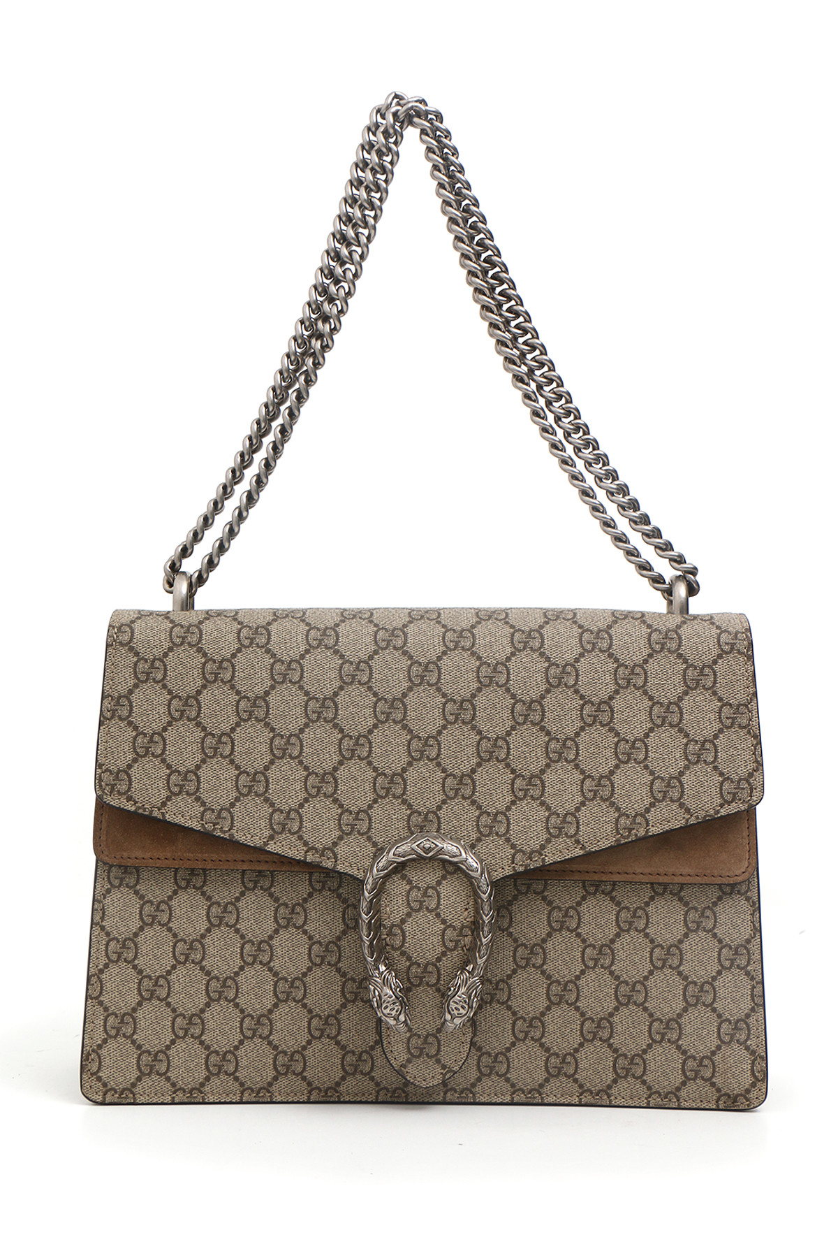 Gucci borse in beige marrone lyst for Borse gucci outlet online