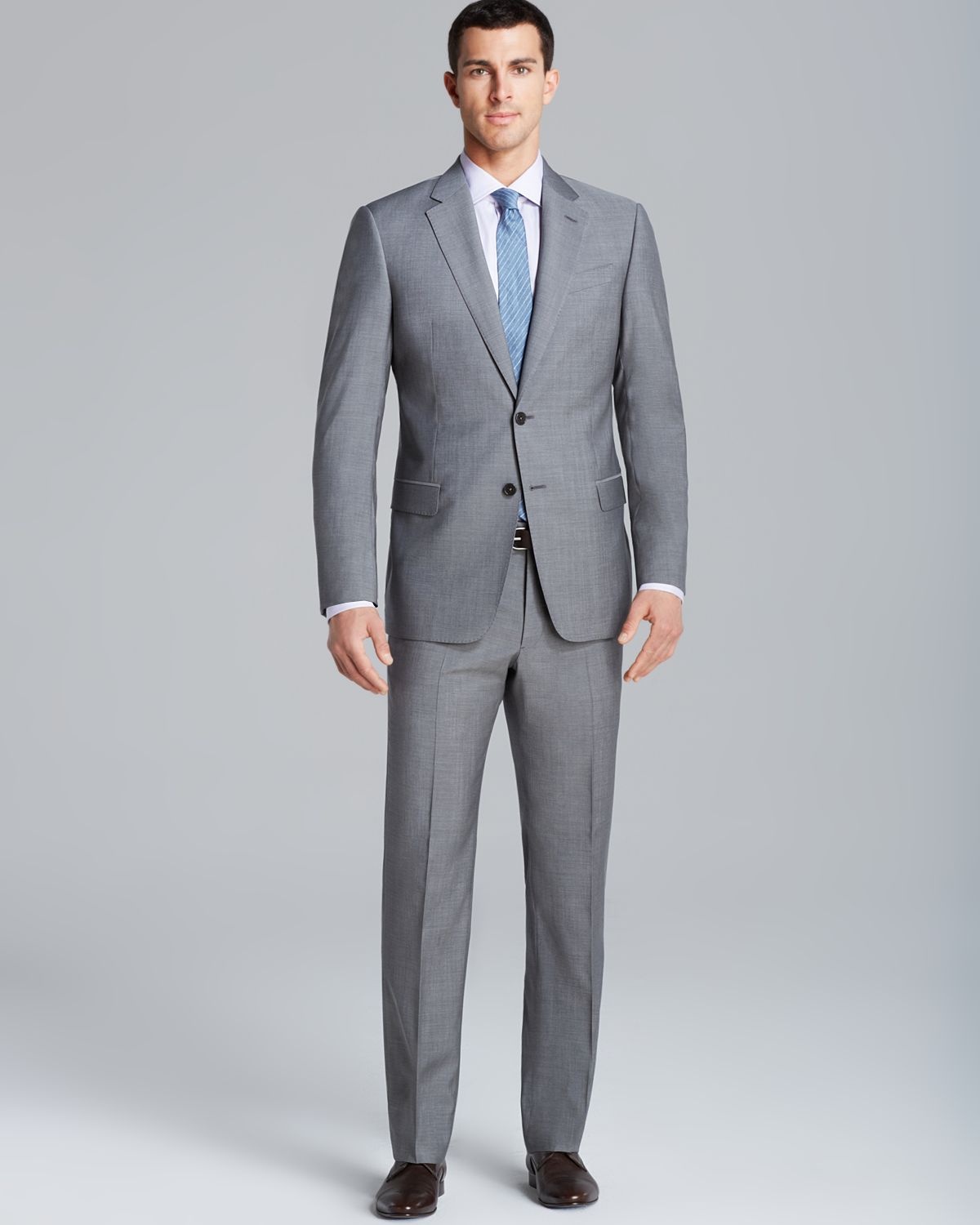 Armani Giorgio End On End Suit - Regular Fit in Gray for ... Giorgio Armani Jacket