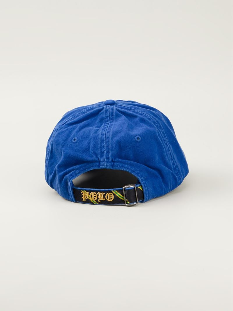 9508a4cf5a4 Lyst - Polo Ralph Lauren Crest Embroidered Baseball Cap in Blue for Men