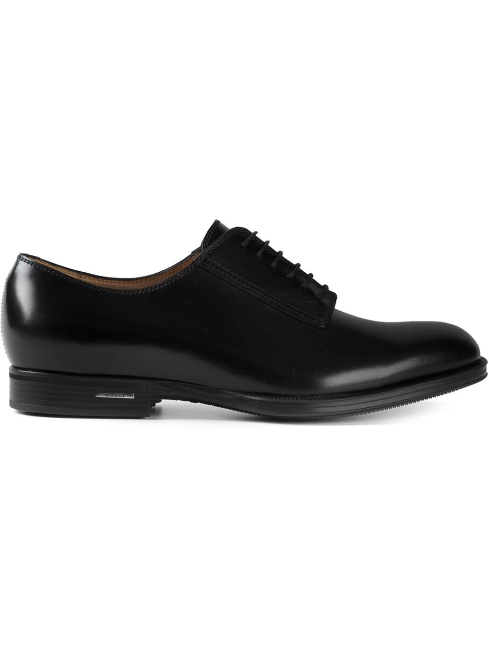 lyst gucci laceup shoes in black for men