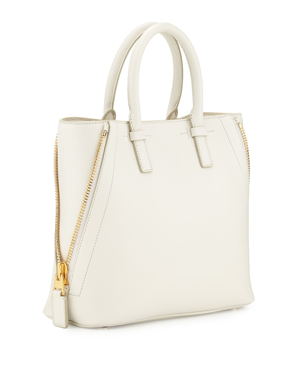 3a93ee0d1b Lyst - Tom Ford Jennifer Small Trap Calfskin Tote Bag in Natural