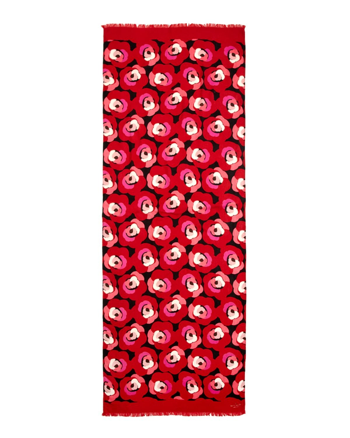 Lyst Kate Spade New York Deco Rose Scarf In Red