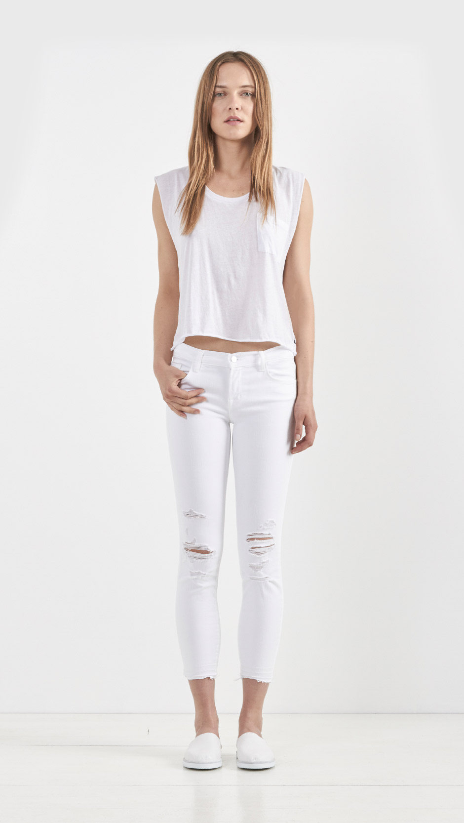 c0582691c50b J Brand Low Rise Crop Jeans Demented White Distressed - The Best ...