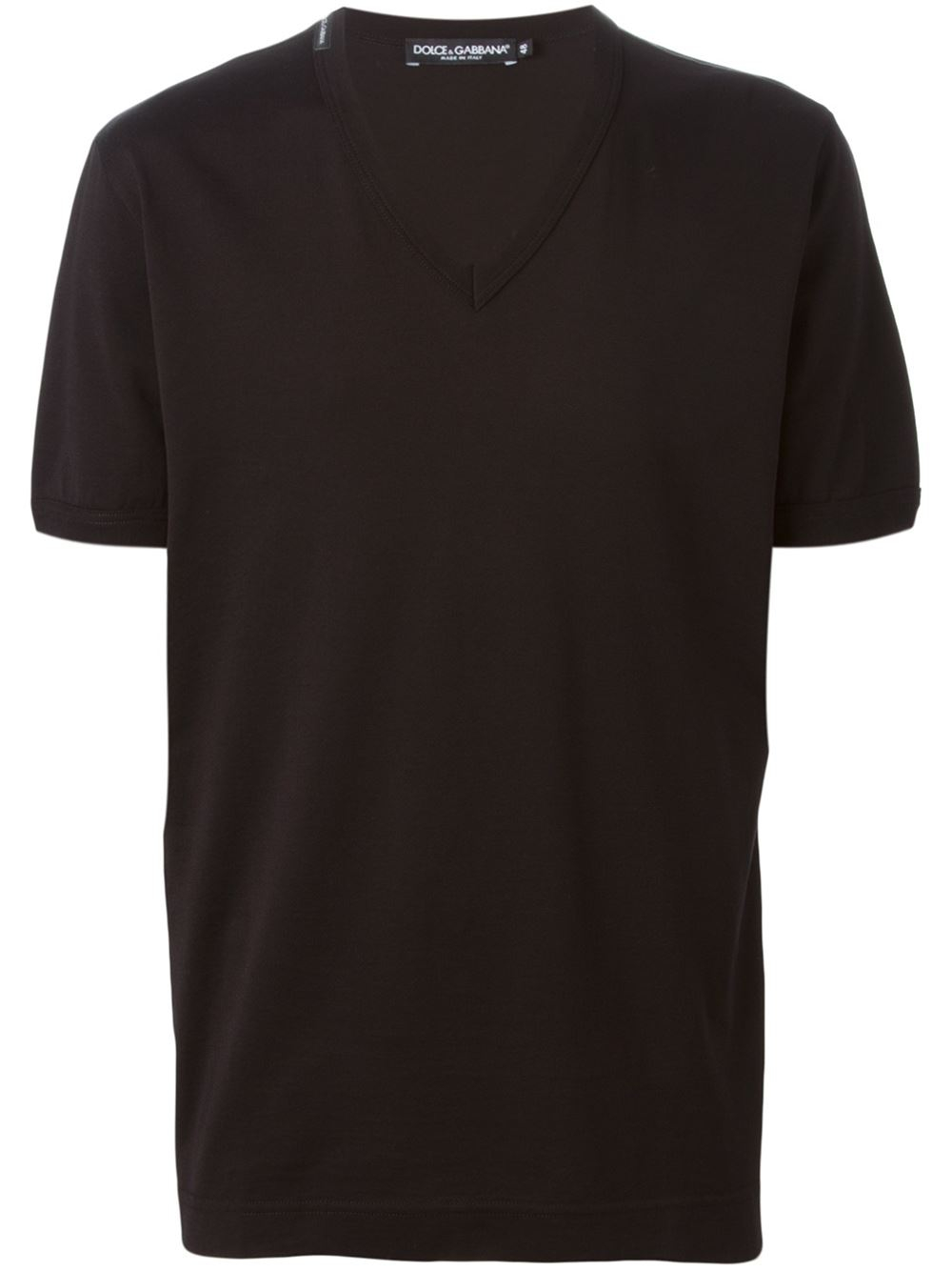 dolce gabbana classic v neck t shirt in black for men lyst