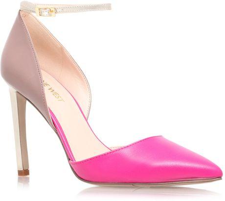 nine west timeforsho high heel court shoes in pink lyst